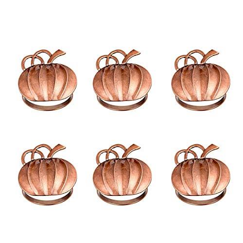 Boji Servilleteros con diseño de calabaza, para otoño, vintage, aleación, para Halloween, otoño, día de Acción de Gracias, decoración de mesa