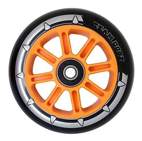 1 x Team Dogz Nylon-kern Roller Rad 100mm Mit ABEC 7 Lager Blau Grün Orange Pink - schwarz PU Orange Core