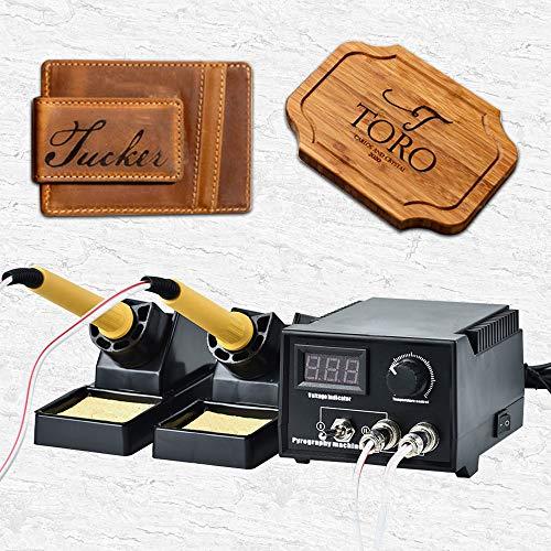 InLoveArts Pyrographie Maschine 60W 220V tragbar Brandmal-Kolben Set mit 20Pcs Brennspitzen für Handwerk Holz Brennen Schnitzerei Dual Pen Pyrographie Werkzeug Professionelle Holz Brennen Kit