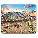Estera cómoda del ratón - Volcán Teide Tenerife Islas Canarias 23.5 x 19.6 cm (9.3 x 7.7 pulgadas) para la computadora y el ordenador portátil, oficina, regalo, base antideslizante - RM16503