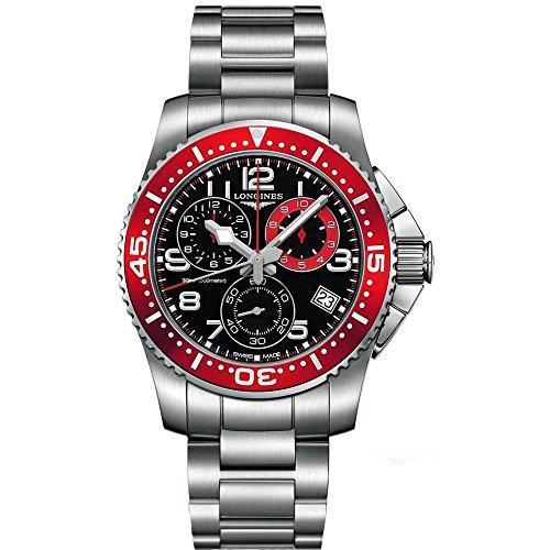 Longines HydroConquest orologio cronografo da uomo con quadrante nero in acciaio inox L36904596