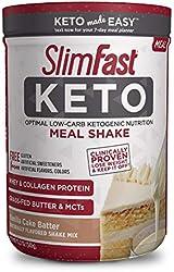 SlimFast Keto Meal Replacement Shake Powder - Vanilla Cake Batter - 12.2 Oz. - 10 Servings - Pantry