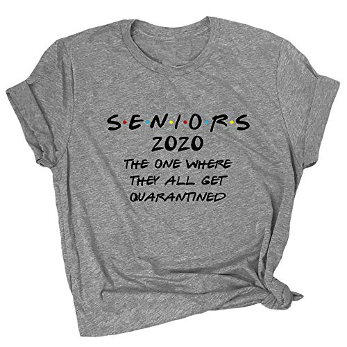 Spunky Pineapple Seniors Quarantined 2020 Funny Social Distancing Premium T-Shirt Grey