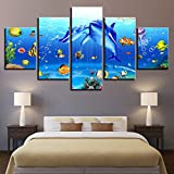 POLLKK 5 Tafeln Wandkunst Leinwandbilder Wohnzimmer Dekor