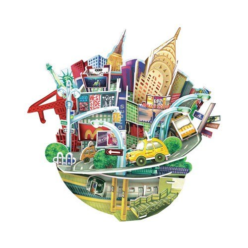 cityscape 3d Puzzle   New york Roly Poly Coin bank