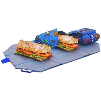 Bolsa merienda Infantil - Porta Bocadillos y Sandwich - Envoltorio Térmico de Tela, ecológico, Reutilizable, sin BPA (Unicornio y Conejita): Amazon.es: Hogar