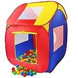 KIDUKU® Kinderspielzelt Bällebad Pop Up Spielzelt + 200 Bälle + Tasche...