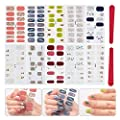 BILBAL 10 Sheets Nail Art Stickers Full Wrap Space Design, Nail Strips Decoration Self-Adhesive Manicure Decals Kit With 2PC Nail Files for Women Girls