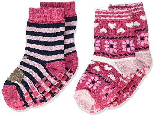Sterntaler Baby-Mädchen Abs-söckchen Dp Bambi Socks, Magenta mel., 17/18 ,2er Pack