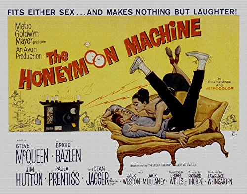 The Honeymoon Machine, Steve Mcqueen, Brigid Bazlen, 1961 - Foto-Reimpresión película Posters 36x28 pulgadas - sin marco