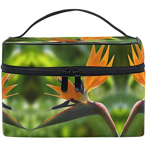 Trousse de Maquillage Birds of Paradise Flower View Travel Cosmetic Bags Organizer Train Case Toiletry Make Up Pouch
