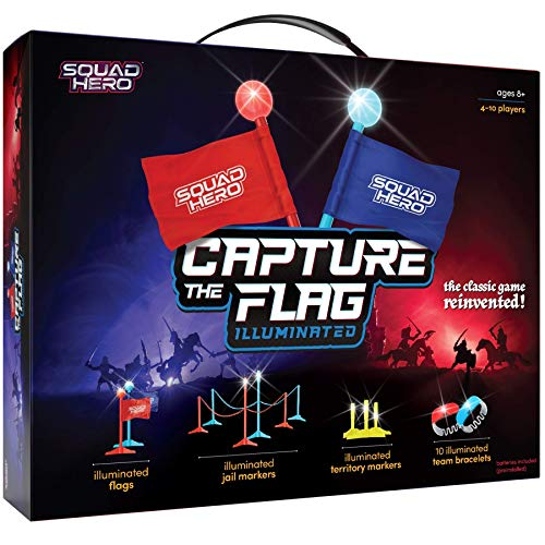 Lightup Capture The Flag Game Illuminated  Glow in The Dark Fun Outdoor Sports Game for Family Birthday Parties amp Youth Teams  Flag Football Set  Gifts for Boys amp Girls  Teens and Kids Gift