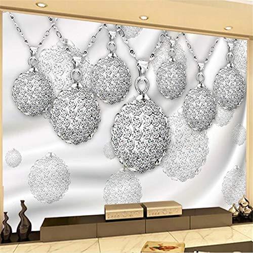 WOONN - Imágenes de pared grandes, personalizables, decoración principal, joyas, bolas, cortinas, salón, TV, fondo de pared, 420CM*260CM
