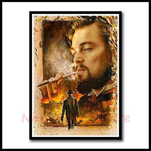 Mengyun Store Rahmenloser Django Unchained Von Quentin Tarantino Poster Bar Cafe Art Rahmenlose Malerei Wandaufkleber Leinwand 50X70Cm Anti-Transparent