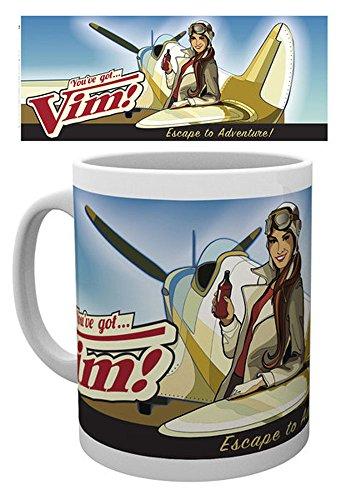 empireposter Fallout 4 - Vims Escape to Adventure - Keramik Tasse - Größe Ø8,5 H9,5cm + Zusätzlich erhalten Sie eine Lizenz Keramik Tasse - Größe Ø8,5 H9,5 cm