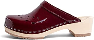 VERKA Women's Wooden Clogs from Sweden - BLOMMA