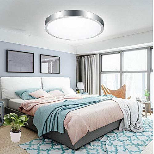 Deckenleuchte, 24 W, LED-Deckenleuchte, rund, 6500 K, Kaltweiß, 120 W, entspricht Ø26 cm, IP54 wasserdicht, für Schlafzimmer, Esszimmer, Küche, Flur, Büro, Geschäft