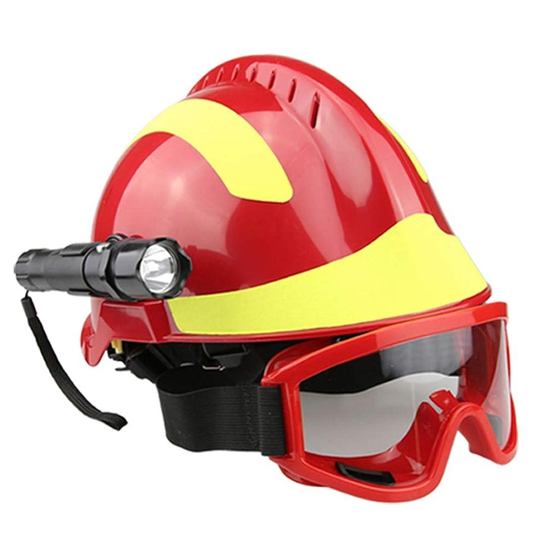 アクセント遺伝的旅屋外救助用ヘルメット、ゴーグルとグレア懐中電灯を備えた地震救助用ヘルメット緊急保護キットFyxd