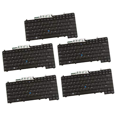 Toygogo 5X Schwarze Laptop Tastatur mit Kleiner Eingabetaste für Dell D630 D830