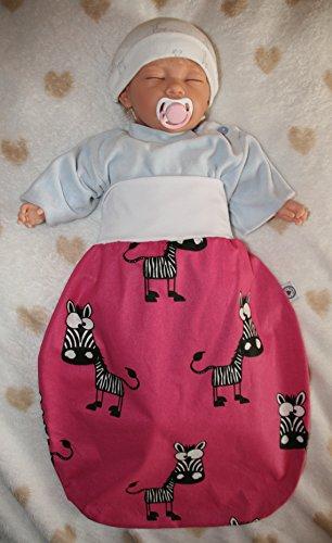 Schlafsack mit niedlichen Tiermotiven Zebra/pink (24-36 Monate)