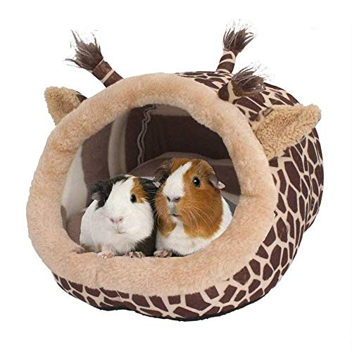 Kirmax Chinchilla Conejillo de Indias Erizo Cama Accesorios Jaula Juguetes DragóN Barbudo Casa de Hamster Suministros HáBitat, L