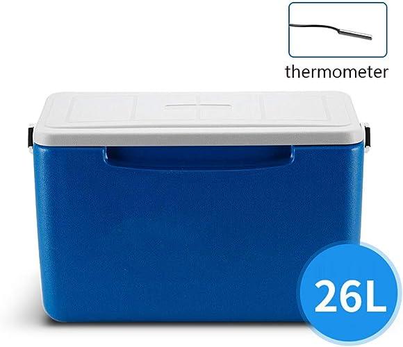 L insulated Box Boîte IsoléE du Refroidisseur Portatif 26l AppropriéE Au Voyage De Pique-Nique De Camping De Voiture