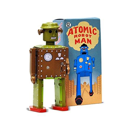 FANMEX - Fantastik - Robot Atomic hojalata diseño Retro - Juguetes de colección