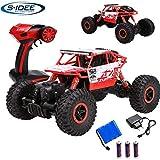 s-idee HB-P1801 4WD Rock Crawler RC Car Geländewagen Auto, 1:18 Fernbedienung Monster Truck/Off Road Fahrzeug Rot