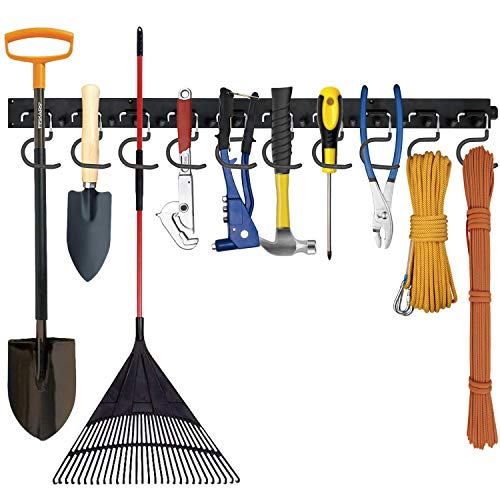 Favbal Garage Organization Tool Organizers,Garage Storage Wall Hanger 64 Inch,Tool Organization and Storage, Garage Hooks,Heavy Duty Tool Storage for Garden, Garage, Laundry Room, Basement, Workshop