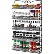 3S 5 Tier Wall Mounted Spice Rack Organizer