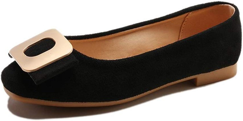 YUHJ Women's Flat shoes Single shoes Casual Wild Comfortable Mother shoes