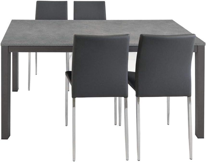 Spazio Casa Tavolo Grigio Allungabile Moderno Da Cucina 110 X 70 Grigio Amazon It Casa E Cucina