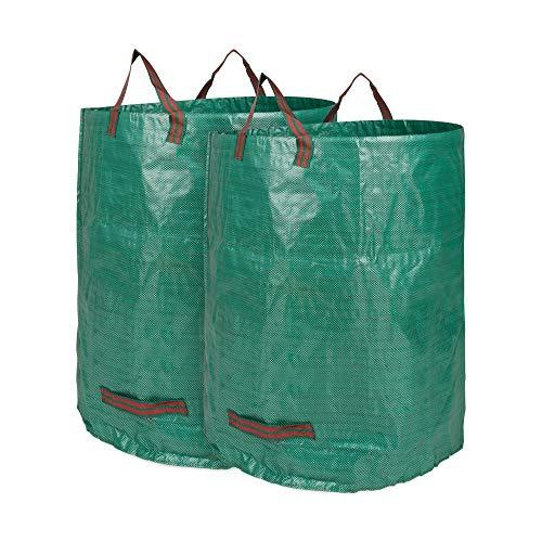 Edaygo Gartenabfallsack Laubsack Gartensack aus Polypropylen-Gewebe (PP), 300 Liter, 2 Stück