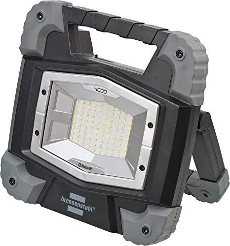 Brennenstuhl Mobiler Bluetooth Akku LED Strahler TORAN 4000 MBA/LED Baustrahler 40W für außen (LED Arbeitsleuchte Akku mit Steuerung per App, integrierter Li-Ion Akku mit Powerbank, 3800lm, IP55)
