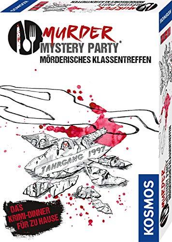 Kosmos Murder Mystery Party - Mörderisches Klassentreffen - Das Krimi-Dinner für zu Hause, Komplett-Set für 8 Personen ab 16 Jahren, Partyspiel, unterhaltsames Gesellschaftsspiel