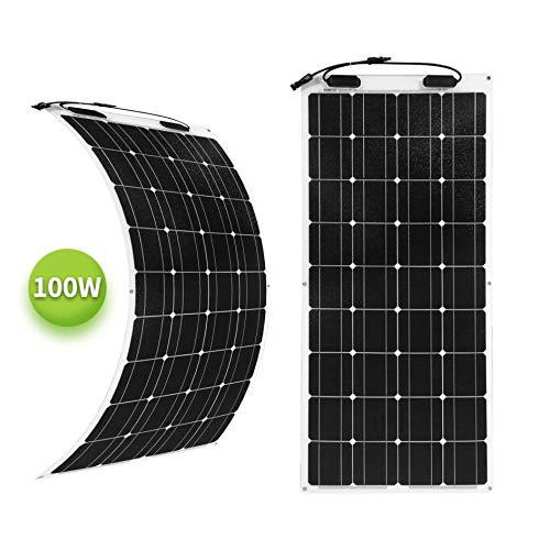 Newpowa 100 Watt flexibel monokristallines SolarModul (100W Mono)