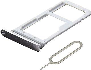 MMOBIEL Bandeja de Tarjeta SIM/SD Compatible con Samsung Galaxy S7 G935 Edge 5.5 Pulg. (Negro) Incl. Sim Pin