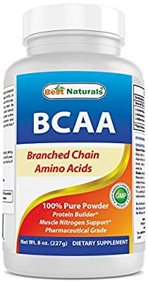 Best Naturals BCAA Powder 8 OZ Branch Chain Amino Acids Pharmaceutical Grade from Best Naturals