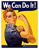 We Can Do It Inspirational Wall Art: Unique (11x14) Unframed Motivational Wall Art For Home & Office Decor - Vintage Rosie The Riveter Poster Wall Decor Gift Idea