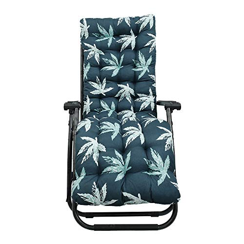 Thick Replacement Garden Recliner Relaxer Chair Cushion Recliner Cushion Sun Lounger Cushion for Indoor Outdoor (cushion only) (170*53cm) (A)