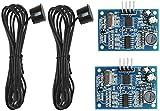ZHITING 2 pezzi Modulo sensore di distanza a ultrasuoni sensore trasduttore di misura da JSN-SR04T DC 5V impermeabile con cavo da 2,5 m per Arduino