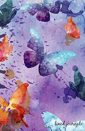 Journal: Butterflies Water Color Lined Journal,Journal Writing,Journals to Write In,Soft Cover,Journals for Activity Books Children, Women, Boys, ... Diary 135 Pages, Size 5.5 x 8.5 (Volume 2)