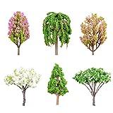 Artibetter 6 stücke Miniatur Landschaft Locke gemischte Modell bäume Miniatur puppenhaus töpfe...