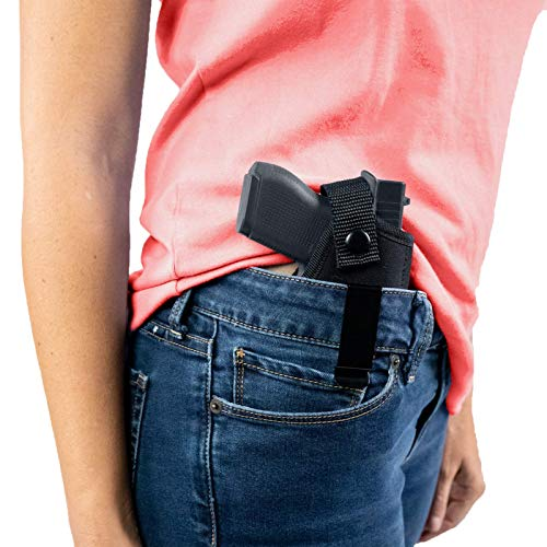 ComfortTac Concealed Carry Holster - Carry Inside The Waistband IWB or Outside The Waistband OWB - Size 1 is Compatible with S&W Bodyguard, Ruger LCP, Kel Tec P3AT, Kahr P380, and Most .380 (Right)