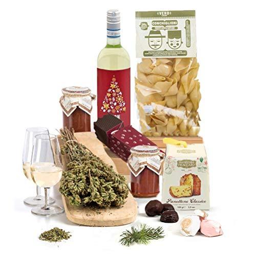 Hay Hampers Luxury Buon Natale Italian Hamper Box with Pasta & Wine