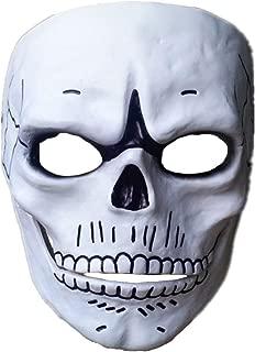Spectre Skull Skeleton Cosplay Mask Replica Full Facemask Halloween Party Mask White