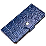 iPhone7 Plus/iPhone8 Plus ケース 本革 手帳型 クロコ型押し カバー カード入れ スタンド機能……
