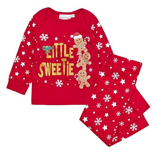 Metzuyan Baby Schlafanzug-Set für Jungen und Mädchen, langärmelig Gr. 12-18 Monate, Ingwer Brot
