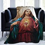 YUNTONG Jesus Christ Throw Blanket Ultra-Soft Micro Fleece Blanket Movies Blanket for Bed Couch Living Room