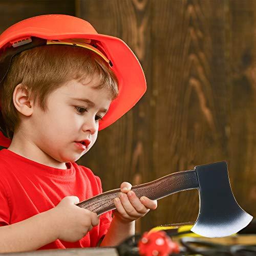Skeleteen Lumberjack Costume Prop Toy - Wood Look Hatchet Axe Props for Party - 1 Piece